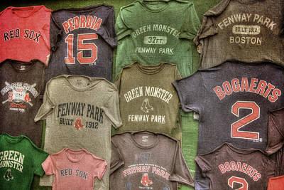 Boston Red Sox Tee Shirts Art Print by Joann Vitali