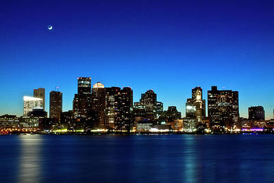 Boston Skyline Print by By Eric Lorentzen-Newberg