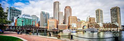Boston Skyline Harborwalk Panorama Picture Print by Paul Velgos