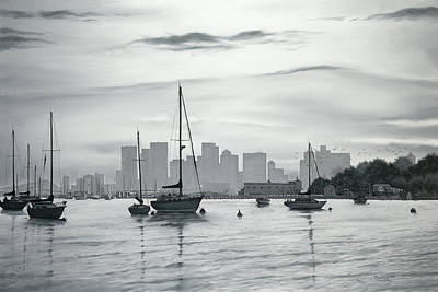 Winthrop Painting - Boston Skyline  by Matthew Martelli