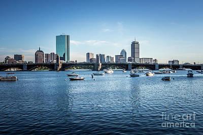 Longfellow Photograph - Boston Skyline With The Longfellow Bridge by Paul Velgos