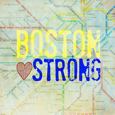 Boston Strong V2 Print by Brandi Fitzgerald