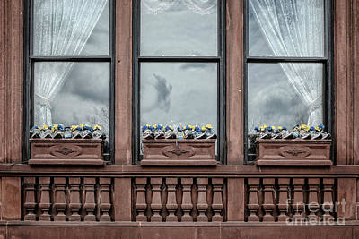 Flower Memorial Photograph - Boston Strong Window Boxes by Edward Fielding