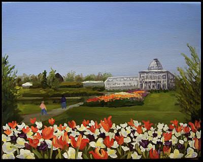Edward Williams Painting - Botanical Garden-lewis Ginter by Edward Williams