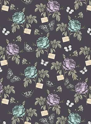 Botanical Roses Print by Stephanie Davies