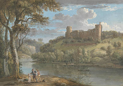 18th Century Painting - Bothwell Castle, From The South by Paul Sandby