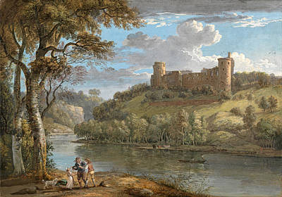 Paul Sandby Drawing - Bothwell Castle From The South by Paul Sandby