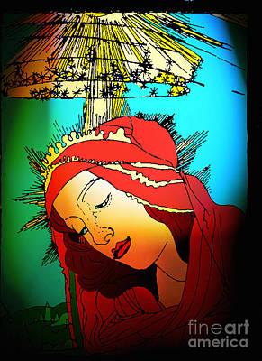 Botticelli Madonna Brights Print by Genevieve Esson