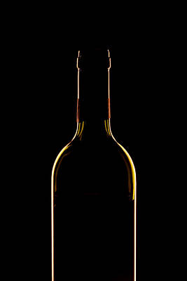 Wine Art Photograph - Bottle Of Wine by Andrew Soundarajan