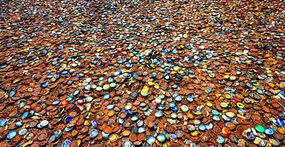 Bottlecaps Photograph - Bottlecap Alley by David Morefield