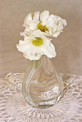 Flower Still Life Photograph - Bottled Begonia Flowers  by Sandra Foster