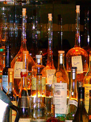 Big Wine Photograph - Bottles At The Modern by Angela Annas