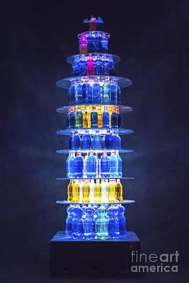 Pyramid Mixed Media - Bottles Display by Svetlana Sewell
