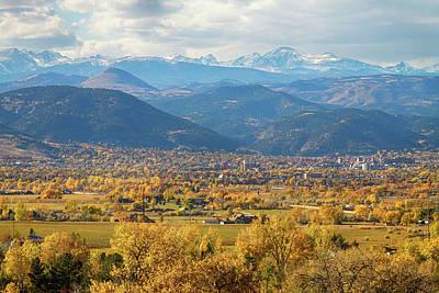 Bo Insogna Photograph - Boulder Colorado Autumn Scenic View by James BO  Insogna