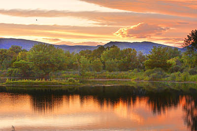 Boulder County Lake Sunset Landscape 06.26.2010 Print by James BO  Insogna