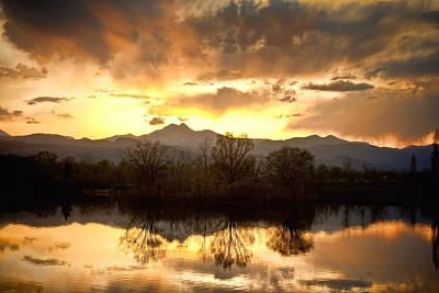 Lightning Photograph - Boulder County Sunset Reflection by James BO  Insogna