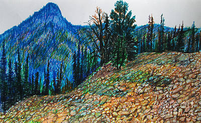 Boulders And Mountains Of Idaho Print by Stephanie  Skeem