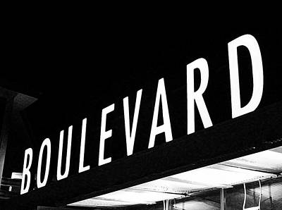 Boulevard Lights Up The Night Print by Angie Rayfield