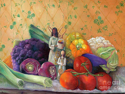 Cauliflower Painting - Bountiful by Marlene Book