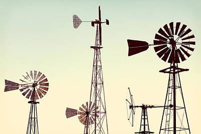 Lattice Photograph - Bountiful Windmills by Todd Klassy