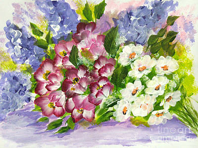 Petals Painting - Bouquet 1 by Jennilyn Villamer Vibar