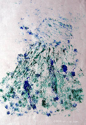 Bouquet Greens And Blues Original by Bruce Katlin
