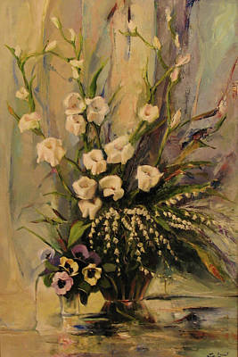 Gladiolus Painting - Bouquet by Tigran Ghulyan
