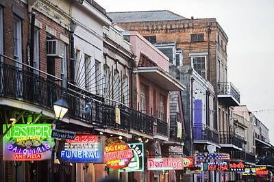 Photograph - Bourbon Street At Dusk by Taylor S. Kennedy
