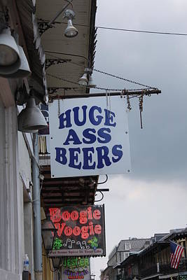 Ass Photograph - Bourbon Street Signs by Lauri Novak