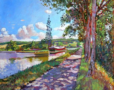Pathway Painting - Bourgogne Canal by David Lloyd Glover