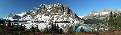 Gigapan Photograph - Bow Lake Reflections by Dave Belcher