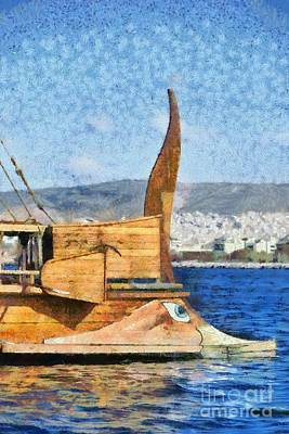 Museum Painting - Bow Of A Full Scale Copy Of An Ancient Trireme by George Atsametakis