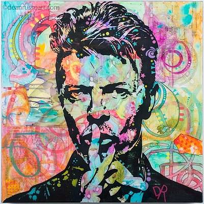 Painting - Bowie Galaxy by Dean Russo