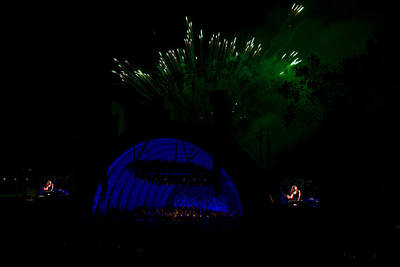 Hollywood Bowl Photograph - Bowl Fireworks by Mitchell Christopher