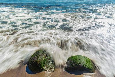 Bowling Ball Beach Rocks Print by Marc Crumpler