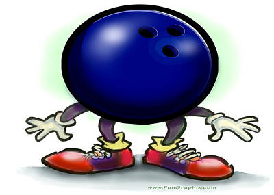 Bowling Greeting Card - Bowling by Kevin Middleton