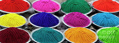 Rangoli Photograph - Bowls Of Coloured Powder  by Tim Gainey