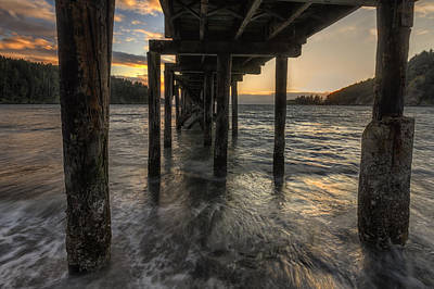 Juan De Fuca Photograph - Bowman Bay Pier by Mark Kiver