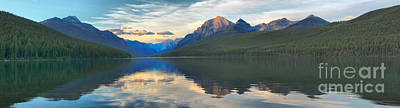 Bowman Lake Reflections Print by Adam Jewell