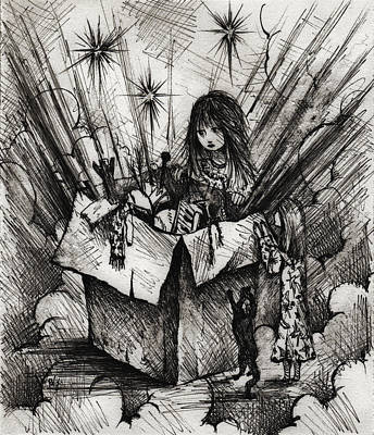 Depression Drawing - Box Of Dreams by Rachel Christine Nowicki