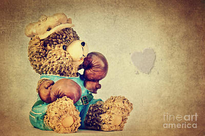 Boxer Mixed Media - Boxer Bear II by Angela Doelling AD DESIGN Photo and PhotoArt