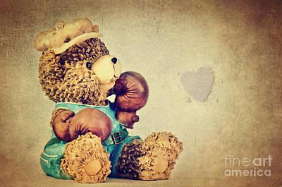 Teddy Bear Mixed Media - Boxer Bear II by Angela Doelling AD DESIGN Photo and PhotoArt
