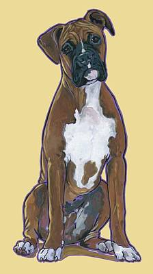 Boxer Painting - Boxer Bentley by Nadi Spencer