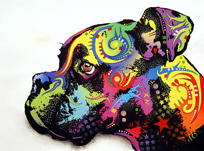 Dog Mixed Media - Boxer by Dean Russo