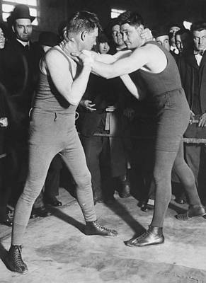 1916 Photograph - Boxer Frank Moran In Training by Underwood Archives