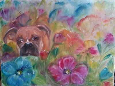 Near Death Experience Painting - Boxer In Heaven by Karen Laflamme