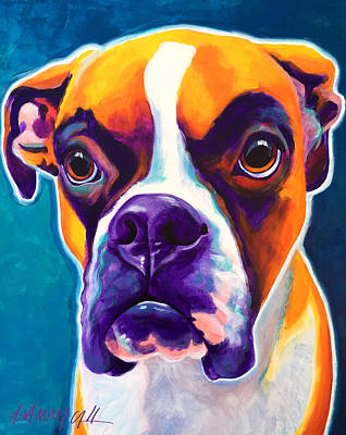 Boxer - Koda Print by Alicia VanNoy Call
