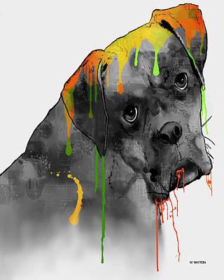 Boxer Digital Art - Boxer by Marlene Watson