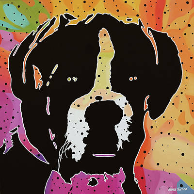 Boxer Painting - Boxer by Nancy Aurand-Humpf