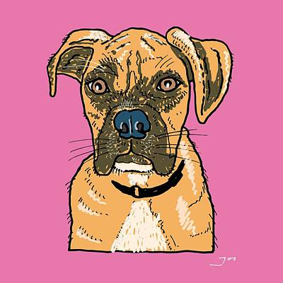 Boxer Dog Art Drawing - Boxer by Pets Portraits